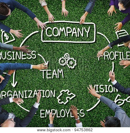 Company Organization Employees Group Corporate Concept