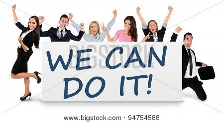 We can do it word writing on banner