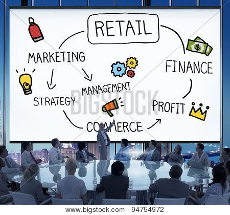 Retail E-commerce Marketing Investing Consumer Concept