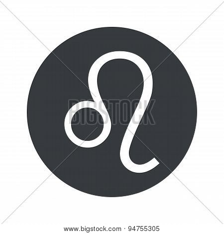 Monochrome round Leo icon