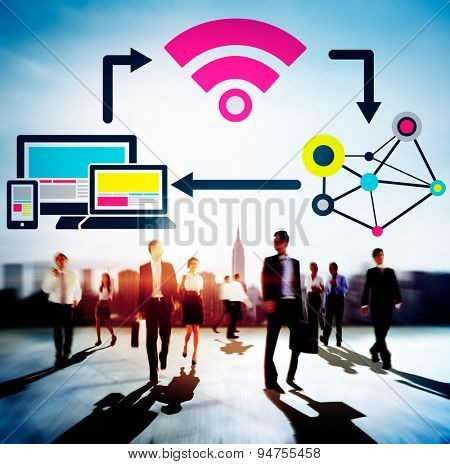 Internet DIgital Global Communication Togetherness Concept