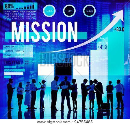 Mission Success Target Solution Aim Aspiration Concept