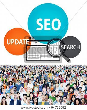 SEO Search Online Technology Update Concept