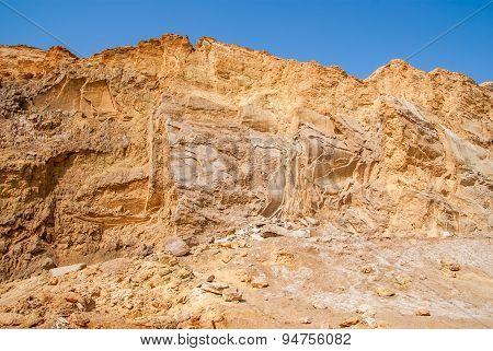 Negev Desert Landscape Near The Dead Sea. Israel
