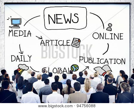 News Publication Online Article Media Concept