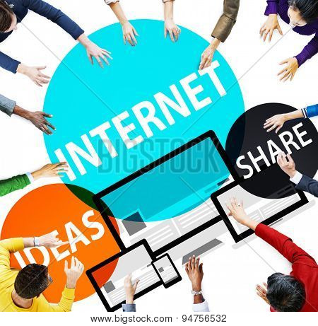 Internet Share Networking Global Communication Concept