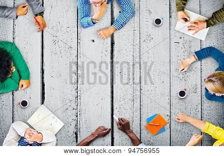 Diversity Teamwork Discussion Meeting Planning Concept