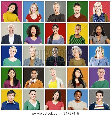 Community Diversity Group Headshot People Concept
