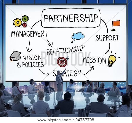 Partnership Company Support Team Organization Concept