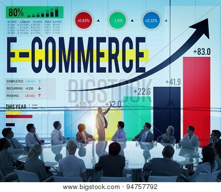 E-commerce Internet Global Marketing Purchasing Concept