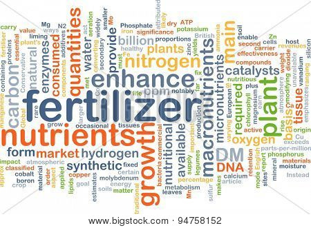 Background concept wordcloud illustration of fertilizer