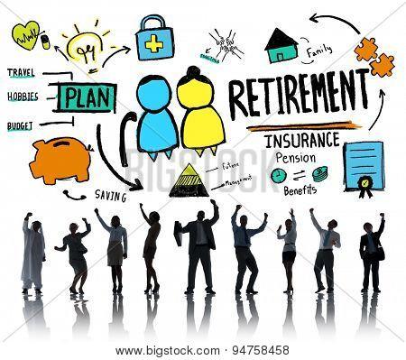 Business People Retirement Celebration Career Goal Concept