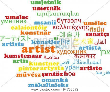 Background concept wordcloud multilanguage international many language illustration of artist