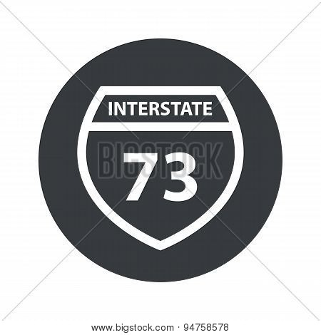 Monochrome round Interstate 73 icon