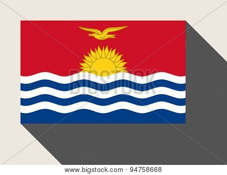 Kiribati flag in flat web design style.