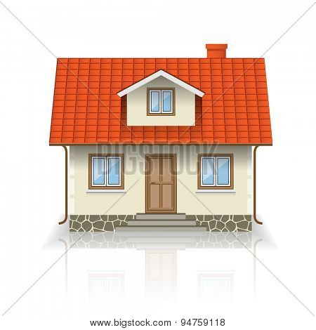 Vector House Icon Isolated on white background. Illustration.