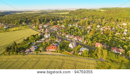 The Lhota Village, suburban district of a Pilsen City. Life area for high society. Czech Republic, Central Europe.