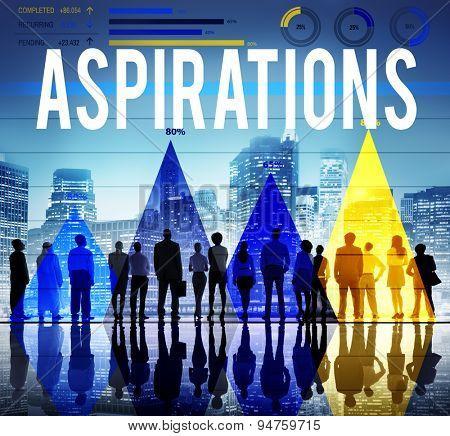 Aspirations Vision Goals Target Desire Concept