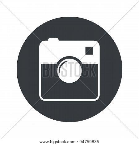 Monochrome round square camera icon