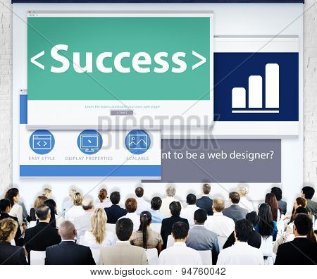 Business People Success Web Design Concept