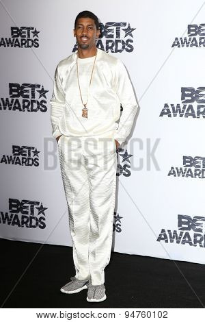 LOS ANGELES - JUN 28:  Fonzworth Bentley at the 2015 BET Awards - Press Room at the Microsoft Theater on June 28, 2015 in Los Angeles, CA