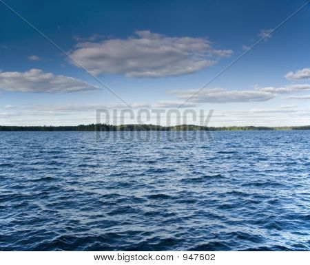 Windy Summer Lake