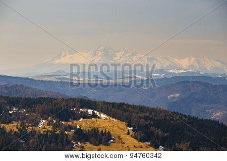 Autumn Mountain Landscape, Beskidy Mountains, Poland