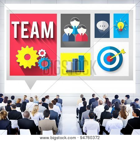 Team Teamwork Business Communication People Concept