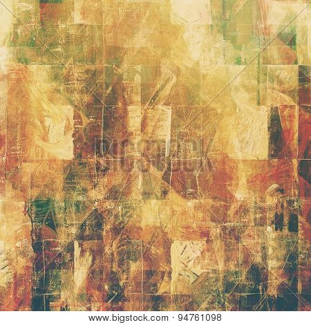 Designed grunge texture or background. With different color patterns: yellow (beige); brown; gray; green