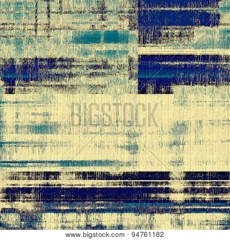 Grunge background with vintage and retro design elements. With different color patterns: yellow (beige); gray; blue; cyan