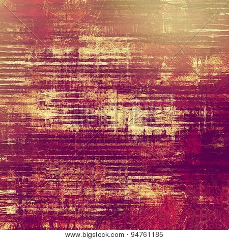 Old antique texture - perfect background with space for your text or image. With different color patterns: yellow (beige); purple (violet); pink; red (orange)