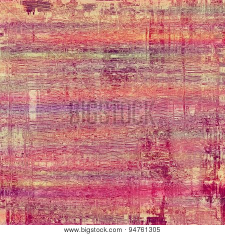 Cracks and stains on a vintage textured background. With different color patterns: brown; purple (violet); pink; red (orange)