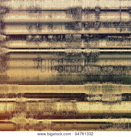Grunge texture with different color patterns: brown, yellow, black, gray