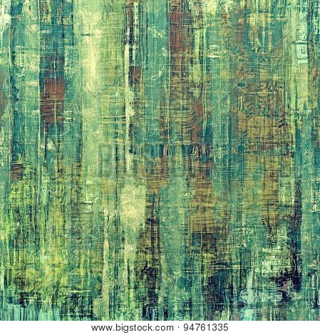 Old antique texture - perfect background with space for your text or image. With different color patterns: yellow (beige); brown; blue; green