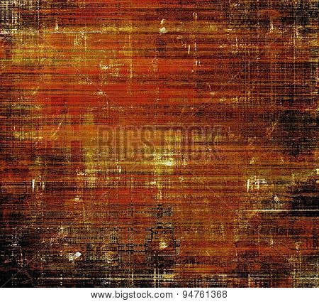 Aged grunge texture. With different color patterns: yellow (beige); brown; black; red (orange)