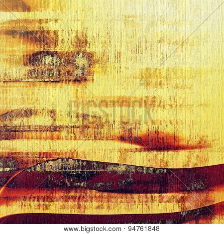 Cracks and stains on a vintage textured background. With different color patterns: yellow (beige); brown; purple (violet); red (orange)