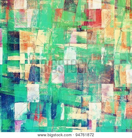 Grunge old texture as abstract background. With different color patterns: yellow (beige); blue; green; red (orange)