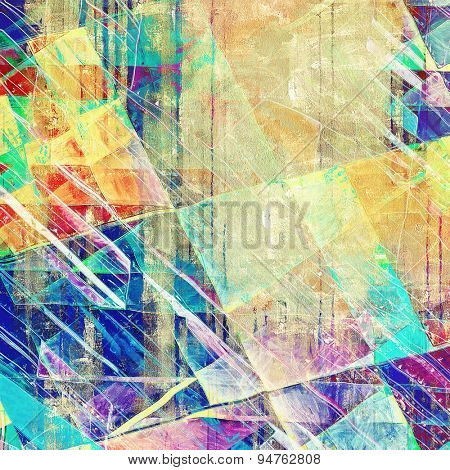 Textured old pattern as background. With different color patterns: yellow (beige); blue; green; purple (violet); red (orange)