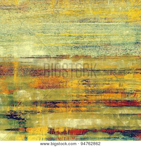 Old and weathered grunge texture. With different color patterns: yellow (beige); brown; green; red (orange)