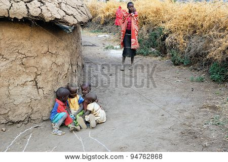 Village Of Masai Tribe