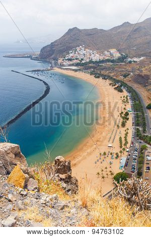 Famous Beach Playa De Las Teresitas,tenerife, Canary Islands, Spain