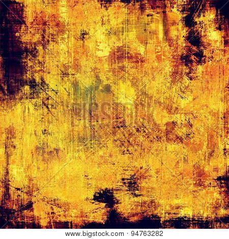 Old texture with delicate abstract pattern as grunge background. With different color patterns: yellow (beige); brown; black; purple (violet)