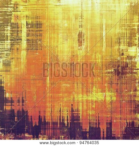 Grunge texture, Vintage background. With different color patterns: yellow (beige); brown; purple (violet); red (orange)