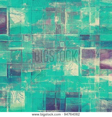 Antique vintage textured background. With different color patterns: gray; blue; cyan; purple (violet)