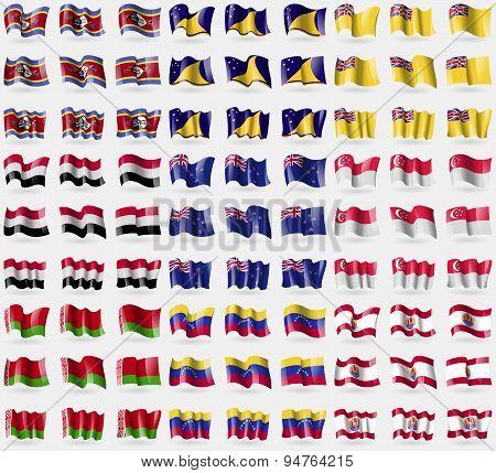Swaziland, Tokelau, Niue, Yemen, New Zeland, Singapore, Belarus, Venezuela, French Polynesia. Big Se