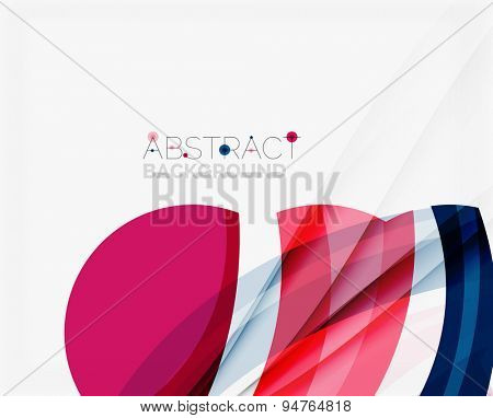 Purple and blue color shapes elegant abstraction for your message. Vector illustration.