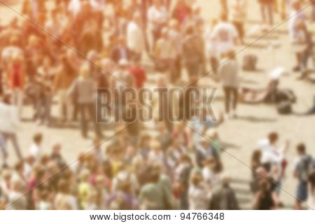 General Public Concept, Blur Crowd Of People