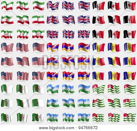 Iran, United Kindom, Udmurtia, Usa, Kabakh Republic, Andorra, Algeria, Kabardianobalkaria, Abkhazia.