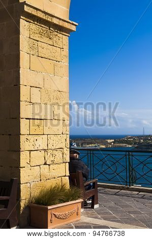 Man Man Waiting For Maltese Shooting Battery