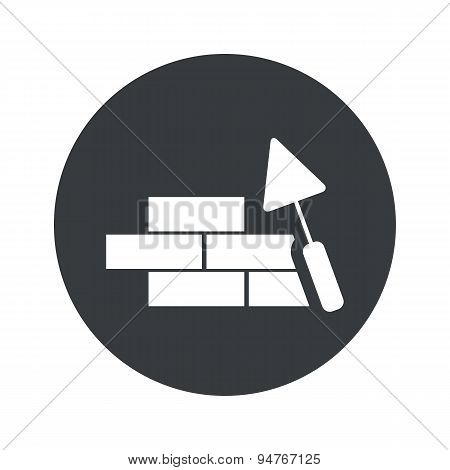 Monochrome round building wall icon